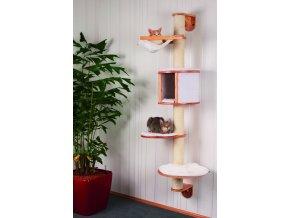 Kočičí strom na zeď DOLOMIT - škrabadlo pro kočky, bílé