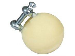 Hračka pro prasata ve výkrmu, míč průměr 75 mm, pozinkovaný úchyt