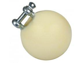 Hračka pro prasata ve výkrmu, míč průměr 75 mm, nerezový úchyt