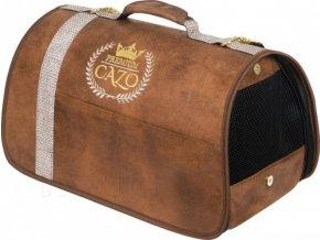 CAZO Taška - kabelka cestovní pro psy a kočky Premium, hnědá, 50 x 27 x 26 cm