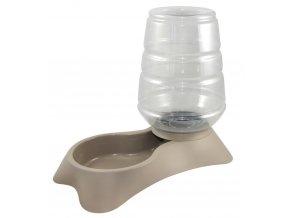 KERBL Zásobník s miskou na vodu pro psy a kočky krémový, 3,8 l