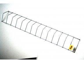 Mřížka kovová ke žlabovému krmítku pro slepice, 13x75 cm