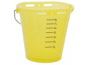 KERBL Kbelík napájecí plastový, transparentní, žlutý