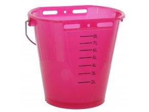 KERBL Kbelík napájecí plastový, transparentní, růžový