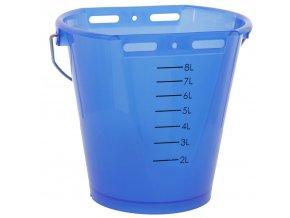 KERBL Kbelík napájecí plastový, transparentní, modrý