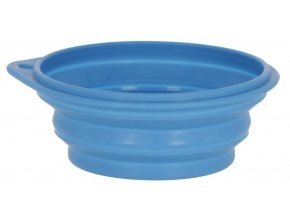 Miska silikonová pro psy,kočky, skládací, 250 ml, modrá