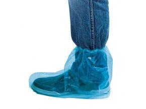 Návleky ochranné kotníkové s gumičkou, modré, balení 100 ks