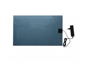 Výhřevná deska pro psy, podlážka 58 x 81 cm, 24 V / 50 W, PVC