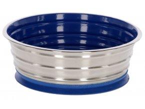 Miska na krmivo nerezová s přísavkou, modrá, 1900 ml
