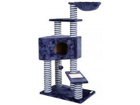 Škrabadlo pro kočky AVENUE - odpočívadlo, tmavě modrá
