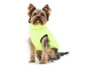 Vesta pro psa Charmonix prošívaná oboustranná, šedá/neonově žlutá, S 35 cm