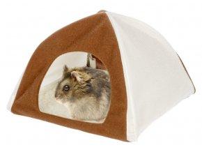 Domek pro křečky a malé hlodavce textilní TIPI, 18 x 18 x 16 cm
