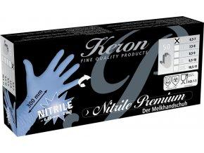 Rukavice nitrilové Premium, délka 30 cm, velikost L