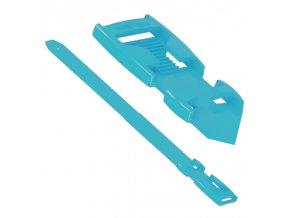 paska na nohy flexi plastova modrá