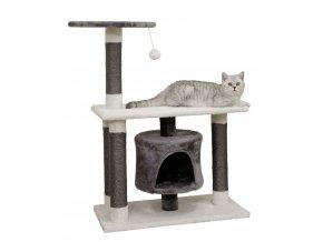 Kerbl Škrabadlo pro kočky Jade Darklight, šedá/bílá, 96 x 70 x 35 cm