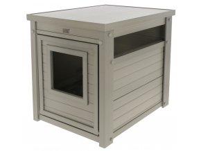 Kerbl bouda pro kočky - kukaň Daffy, EKO plast, šedá, 47 x 60 x 56 cm