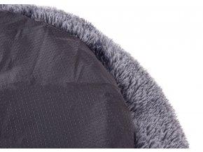 Kerbl pelíšek Fluffy pro štěňata a malé psy, plyšový, šedý, 60 x 18 cm