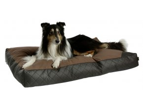 Kerbl polštář pro psy Giulia, hnědý, imitace kůže, 100 x 60 x 17 cm