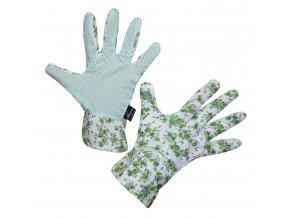 Pracovní rukavice BelGardo dámské, vel. 8, květované