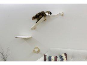 Škrabadlo pro kočky Alpy, sada nástěnných pater, přírodní / bílá, 4 ks