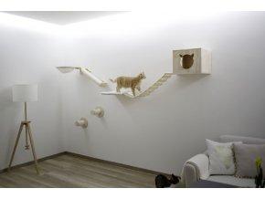 Škrabadlo pro kočky Andes, sada nástěnných pater, přírodní / bílá, 8 ks