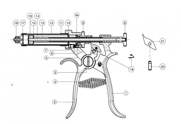 Válec skleněný pro poloautomat Roux-Revolver, 50 ml