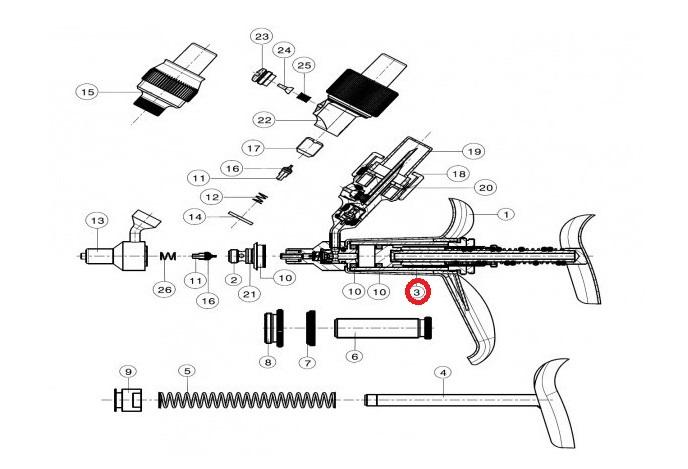 Skleněný válec pro automat FERRO-MATIC M91, 0,1 - 5,0 ml