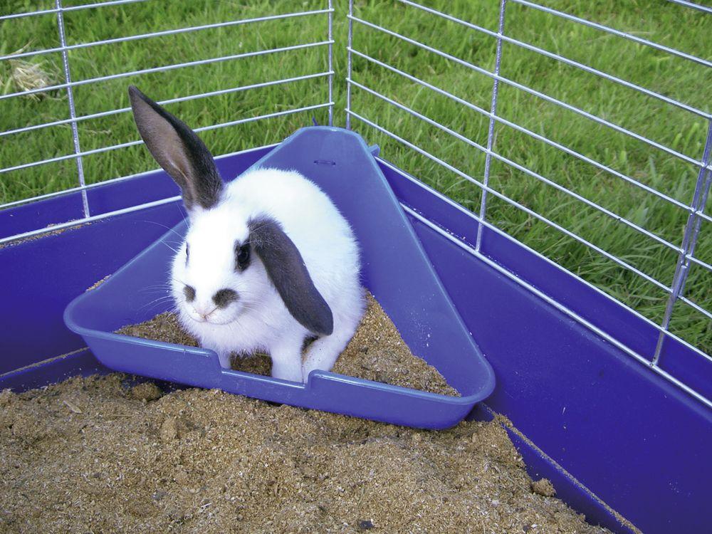 Toaleta pro králíky, rohová velká