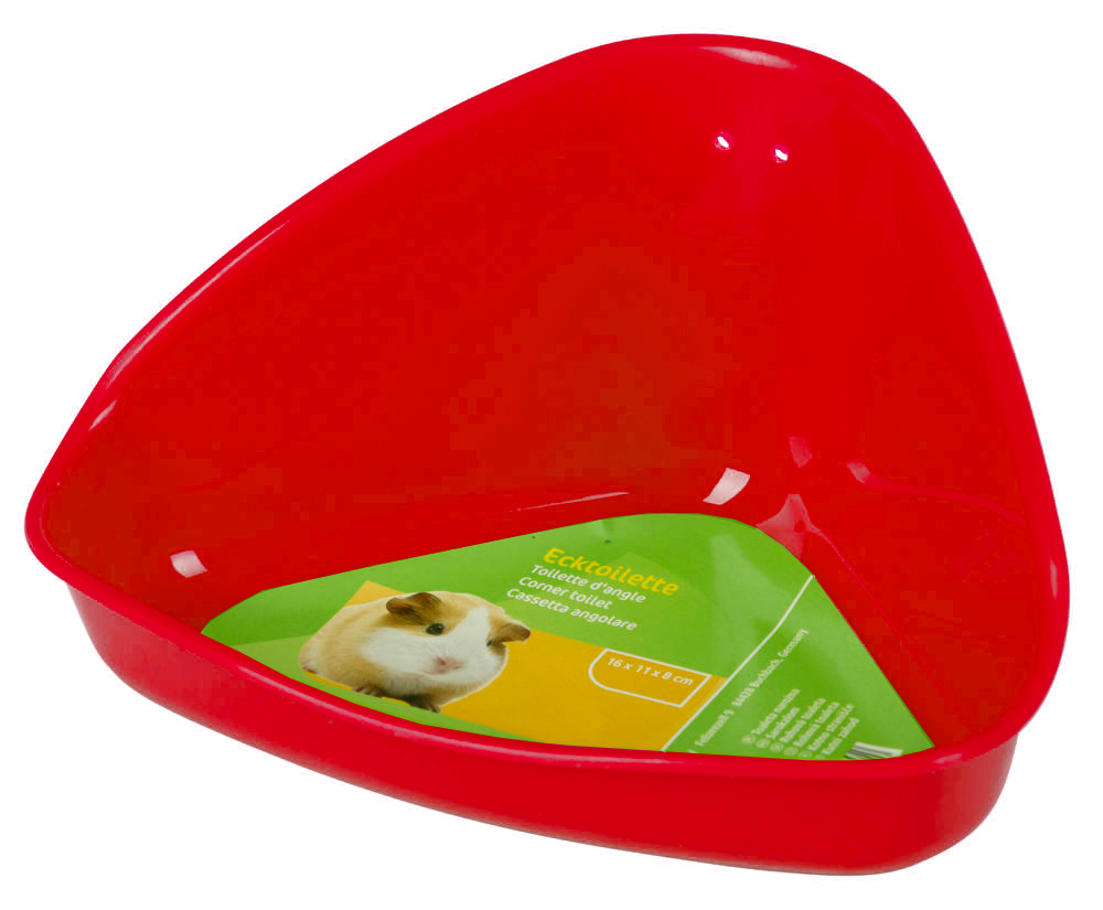 Toaleta pro křečky, plast, červená