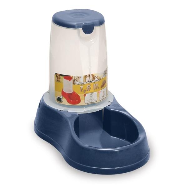Zásobník s miskou na krmivo pro psy a kočky Maya, 1,5 l, modrý