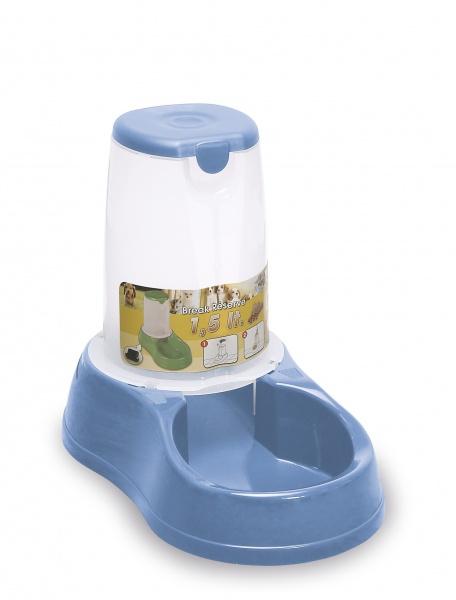 Zásobník s miskou na krmivo pro psy a kočky Maya, 1,5 l, pastelově modrý