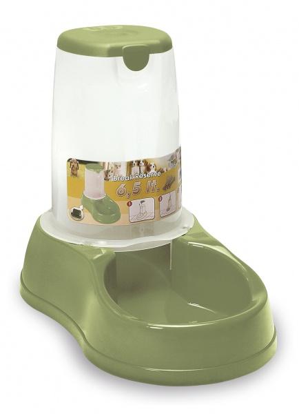 Zásobník s miskou na krmivo pro psy a kočky Maya, 1,5 l, pastelově zelený
