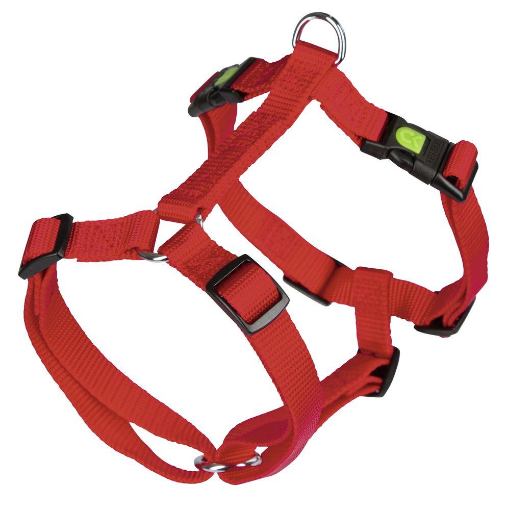 Postroj pro psy nylonový Miami 30-40 cm, červený