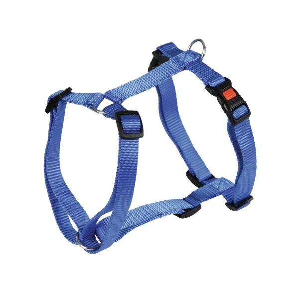 Postroj pro psy nylonový Miami 30-40 cm, modrý