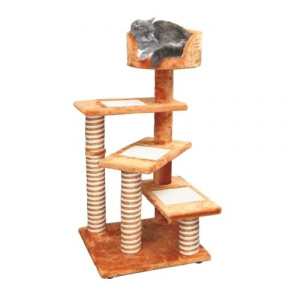 Odpočívadlo BROADWAY pro kočky terracotta 50x50x100cm