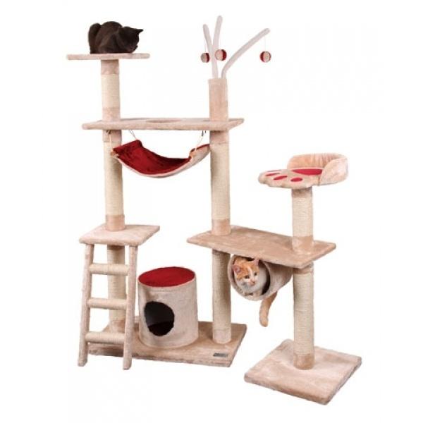 Škrabadlo pro kočky CREATIV - kočičí domek, bílá/antracit