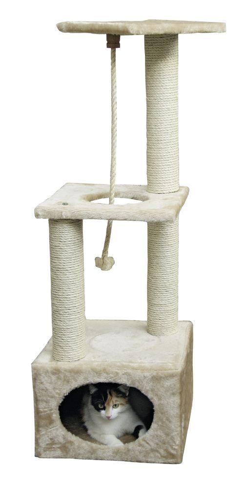Odpočívadlo PLATIN PRO pro kočky 37x37x109cm béžová