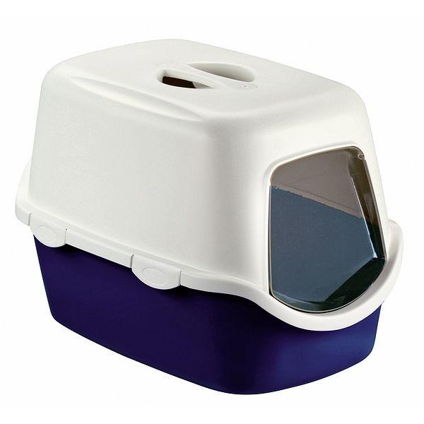 Toaleta pro kočky Cathy, modrá - kočičí WC s filtrem