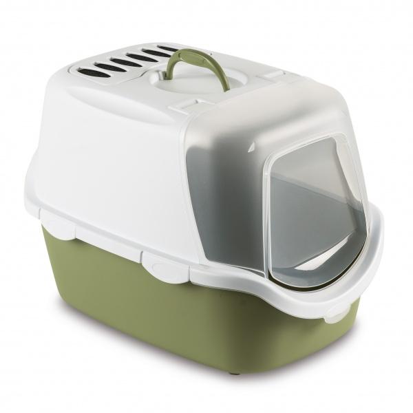STEFAN PLAST Toaleta pro kočky Cathy Easy Clean,WC s filtrem a lopatkou,pastel.zelená