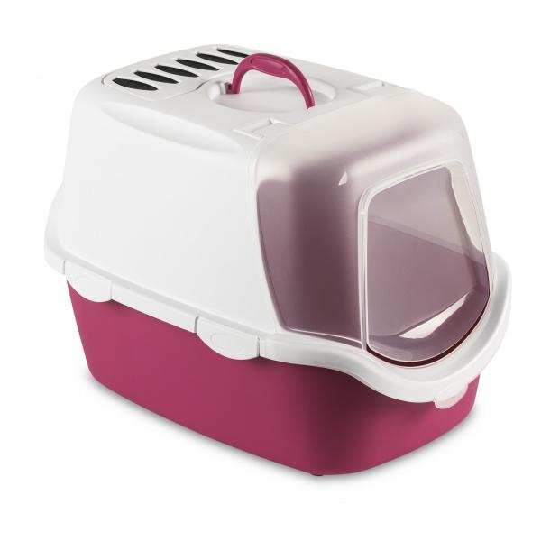 STEFAN PLAST Toaleta pro kočky Cathy Easy Clean,WC s filtrem a lopatkou,fuchsiová