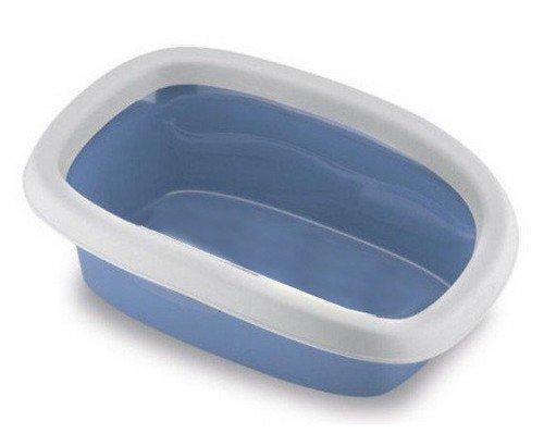 Toaleta pro kočky Sprint 10 - kočičí WC s lopatkou, 31 x 43 x 14 cm, pastelově modrá