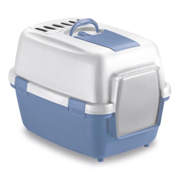 STEFAN PLAST Toaleta pro kočky Wiva Cat, 55x40x40cm, pastel.modrá