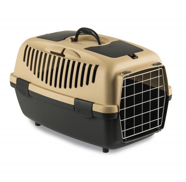 STEFAN PLAST Přepravka pro psy a kočky Gulliver 2, pískově hnědá, 55x36x35cm, kovová dvířka