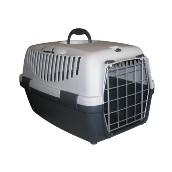 Přepravka pro psy a kočky Gulliver 3, šedá, 61x40x38cm, kovová dvířka
