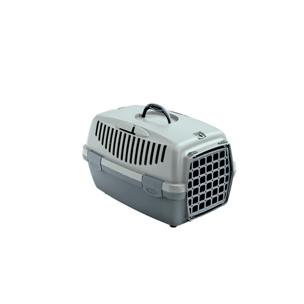 STEFAN PLAST Přepravka pro psy a kočky Gulliver 1, zelená/šedá, 48x32x31cm, plastová dvířka