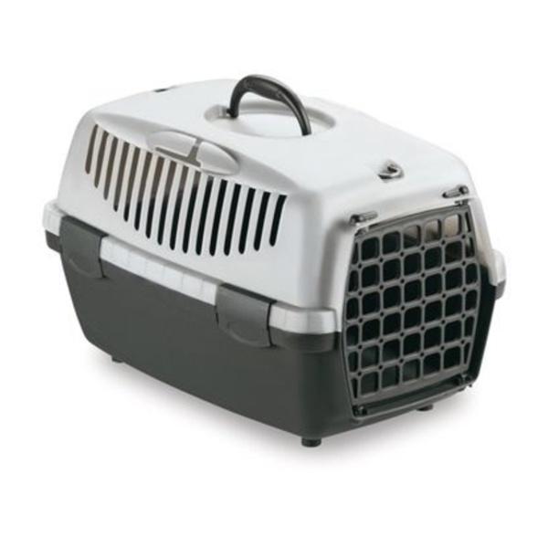 STEFAN PLAST Přepravka pro psy a kočky Gulliver 1, šedá, 48x32x31cm, plastová dvířka