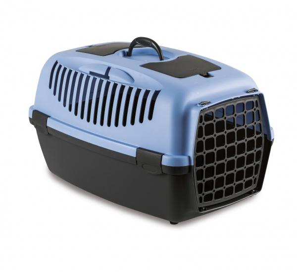 STEFAN PLAST Přepravka pro psy, kočky Gulliver 3, 61x40x38cm, plast.dvířka, pastel.modrá