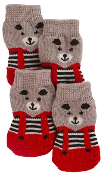 Ponožky pro psy BRUNO pletené, protiskluzové, vel. M