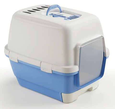 STEFAN PLAST Toaleta pro kočky Cathy Clever & Smart, pastel.modrá