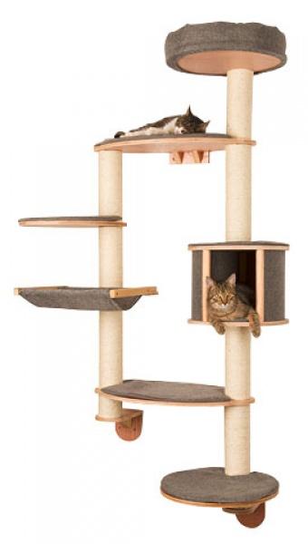 Škrabadlo pro kočky na zeď DOLOMIT XL Tofana - kočičí domek